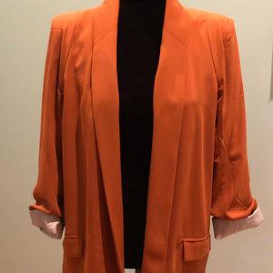 Anthropologie Greylin Rust lined blazer
